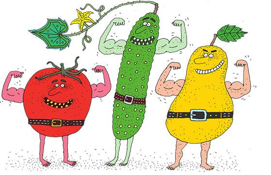 Сила фруктов и овощей