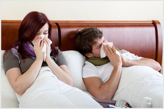 Болеют дома в постели